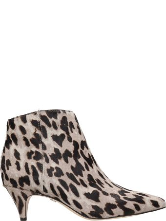 Sam Edelman Ankle Boots In Grey Pony
