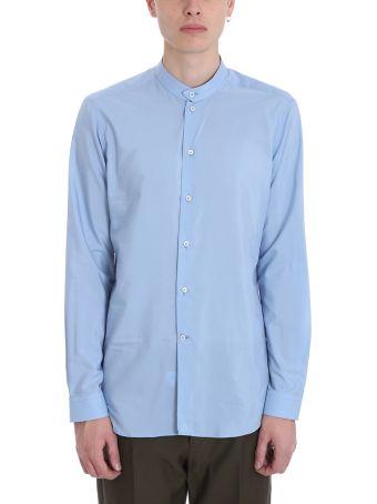 Alessandro Gherardi High Blue Cotton And Silk Shirt
