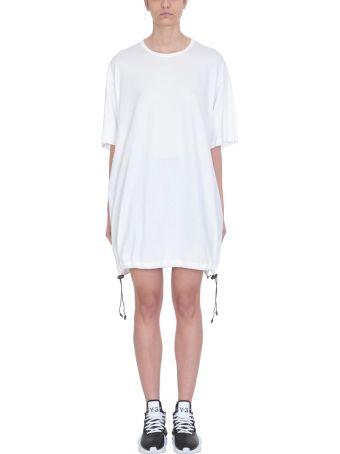 Y-3 White Drawstring Ss Tee Dress