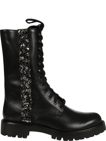 René Caovilla Rhinestone Embellished Boots