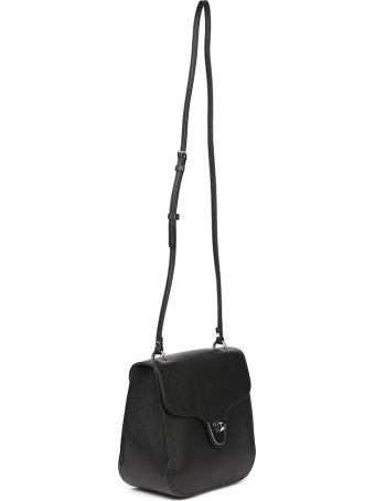 Coccinelle Black Leather Crossbody Bag