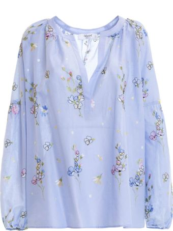 Blugirl Embroidered Floral Blouse