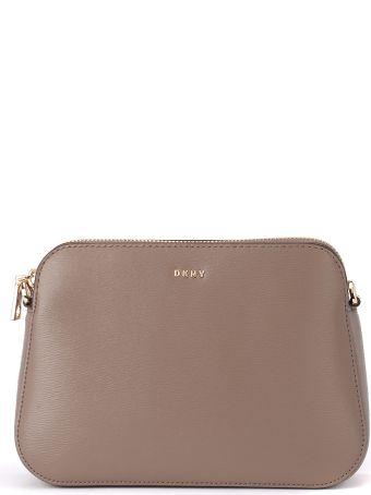 DKNY Bryant Sand Leather Pochette