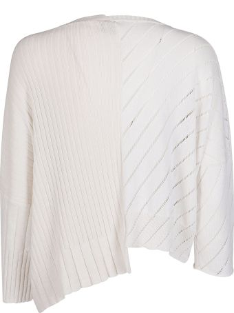 Maison Flaneur White Cotton Jumper