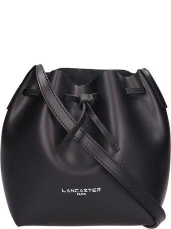 Lancaster Paris Black Leather Mini Bucket Bag