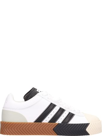 Adidas Originals by Alexander Wang Aw Skate Super Leather White Sneakers