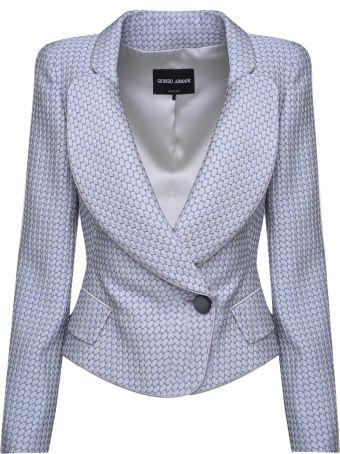 Giorgio Armani Double-breasted Jaquard Jacket
