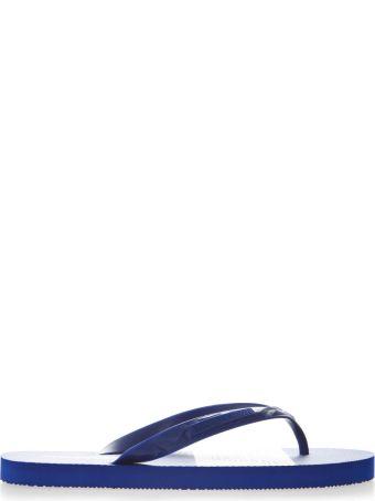 Emporio Armani Blue Rubber Sandals