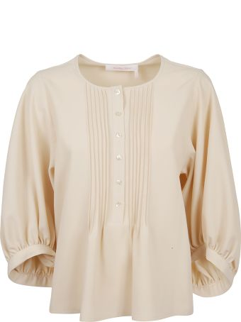 See by Chloé Pleated Flare Blouse