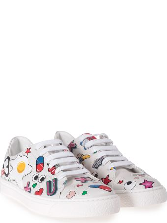 Anya Hindmarch All Over Stickers Leather Low-top Sneakers