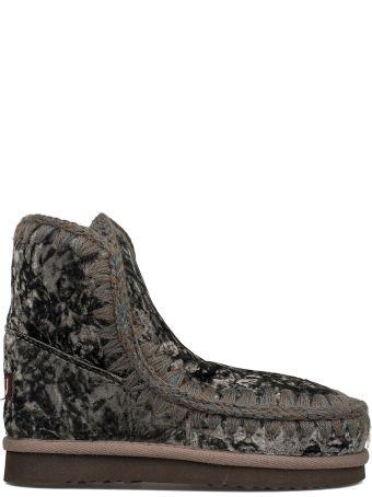 Mou Gray Velvet Eskimo 18 Low Boot