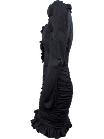 Giuseppe di Morabito Black Silk Blend Dress