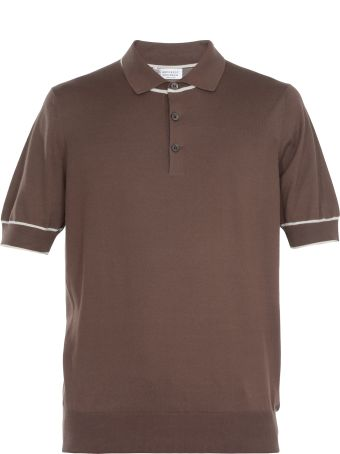 Brunello Cucinelli Three Buttons Cotton Polo Shirt