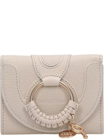 See by Chloé Beige Leather Hana Wallet