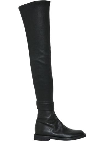 Ann Demeulemeester Stretch Leather Cuissardes
