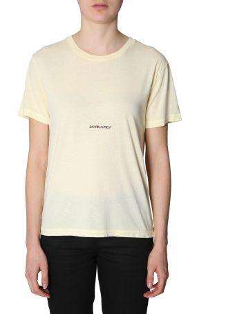 Saint Laurent Box Logo Print T-shirt