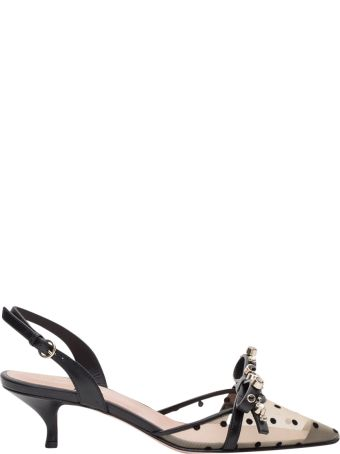 RED Valentino Geometric Bow Pump