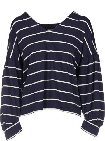 8PM Striped V-Neck Longsleeved Top