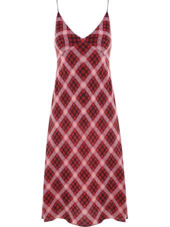 Marc Jacobs Plaid-print Washed-silk Midi Dress