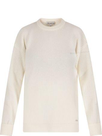 Simonetta Ivory Sweater For Girl With Logo