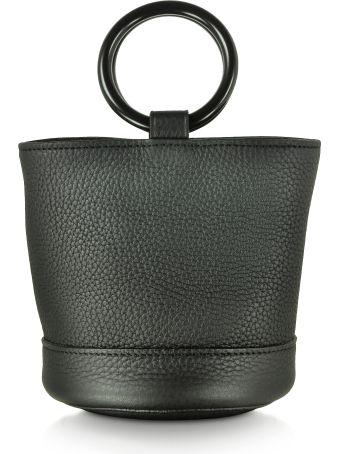Simon Miller S801 Black Leather 15 Cm Bonsai Bag