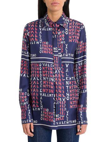 Valentino Valentino Puzzle Silk Twill Shirt