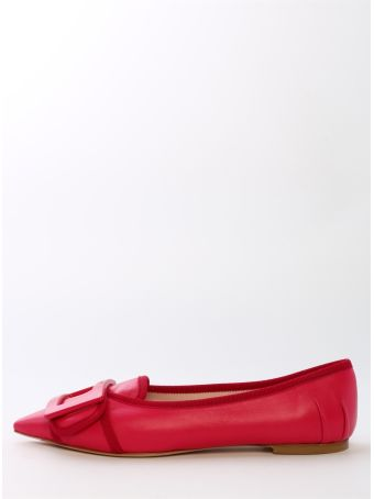 Roger Vivier Ballet Shoes Fuchsia Leather
