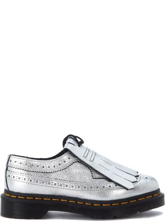 Dr. Martens 3989 Silver Metal Lace Up With Fringe.
