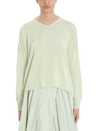 Maison Flaneur Mint Viscose And Silk Knit Sweater