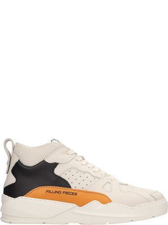 Filling Pieces Beige-orange Leather Lay-up Ices Sneakers