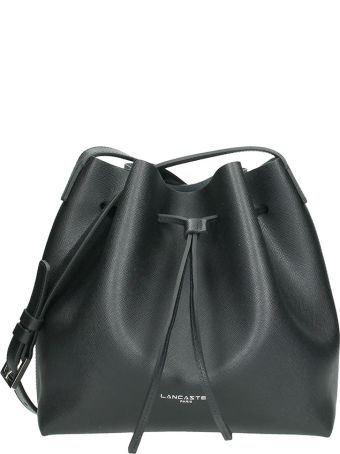 Lancaster Paris Small Bucket Blacl Saffiano Leather