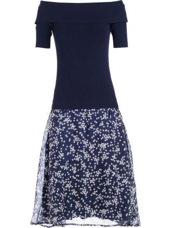 Parosh Dress W/skirt Georgette