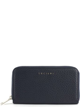 Orciani Navy Leather Wallet
