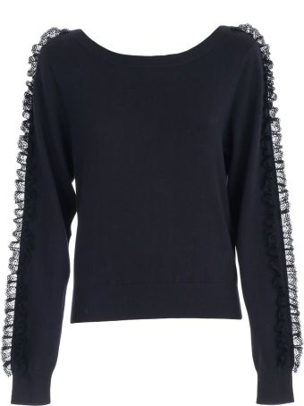 See by Chloé Sweater L/s Boat Neck W/insert