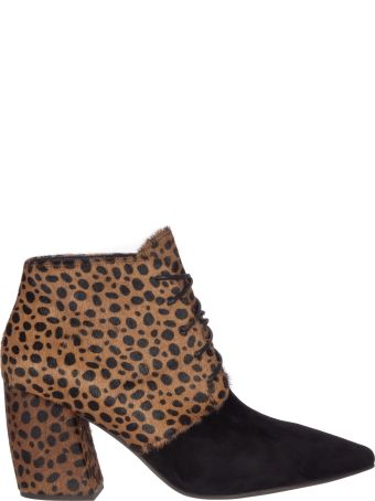 Jeffrey Campbell Suede Calf Hair Ankle Boots