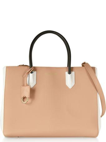 Emporio Armani Color Block Medium Tote Bag W/shoulder Strap
