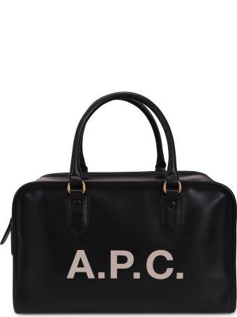 A.P.C. Black Sylvie Duffle Bag