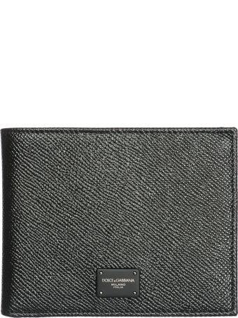 Dolce & Gabbana  Wallet Genuine Leather Coin Case Holder Purse Card Bifold