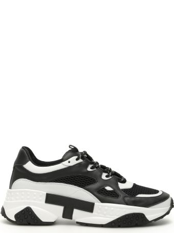 Tod's Leather And Fabric Sneakers