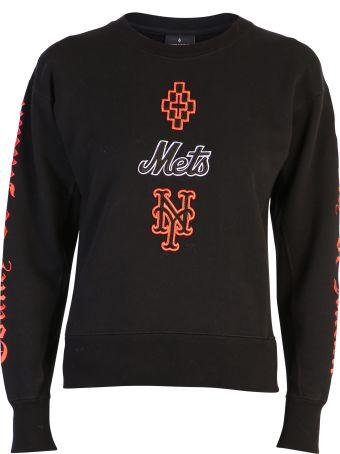 Marcelo Burlon Black Embroidered Sweatshirt