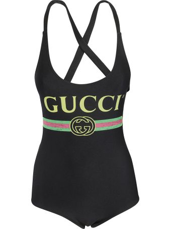Gucci Logo Print Swimsuit