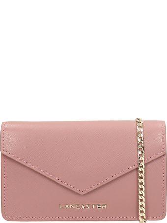 Lancaster Paris Pink Leather Mini Clutch Bag