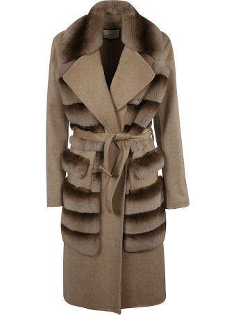 Rizal Fur Detail Coat