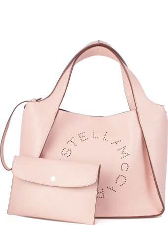 Stella McCartney Cross Body Logo Bag In Faux Leather Perforateda Detachable And Adjustable Removable Pouch