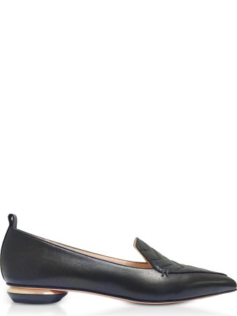 Nicholas Kirkwood Beya Black Quilted Nappa Leather Loafers