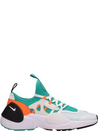 Nike White-green-orange Fabric Huarache E.d.g. Sneakers