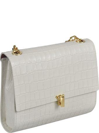 the VOLON Croc-skin Effect Shoulder Bag