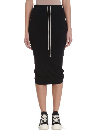 DRKSHDW Black Cotton Long Skirt