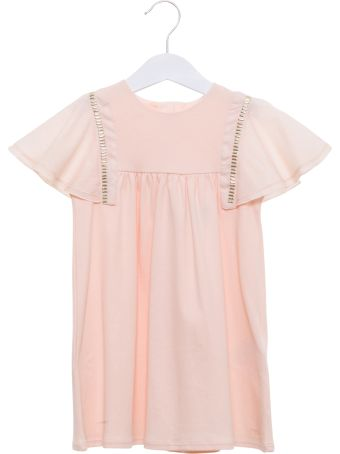 Chloé A-line Dress With Lacy Cup Sleeve