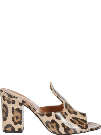 Paris Texas Leopard Print Mules